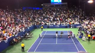 Tsonga Performs His Signature Win Celebration