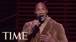 Dwayne Johnson Gives Toast To 'The Ones In The Seats', Talks Childhood & More | TIME 100 | TIME