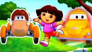 Die Lackierwerkstatt von Tom dem Abschleppwagen : Katie als Dora | Lastwagen Cartoons für Kinder
