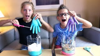 MYSTERY BOX of SLIME GLOVES CHALLENGE!!!