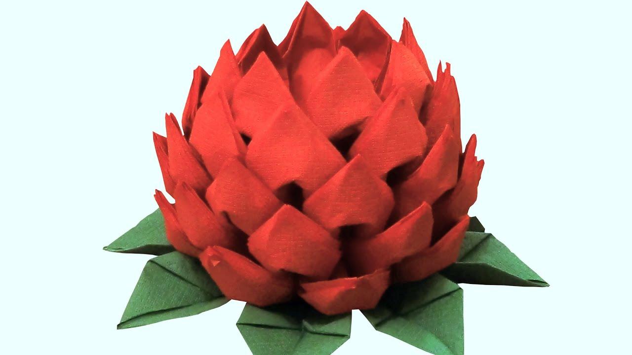 Как сделать красивые цветы из салфеток своими руками