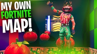 I PLAYED MY OWN FORTNITE MAP... NEVER SEEN BEFORE!! | Fortnite Battle Royale