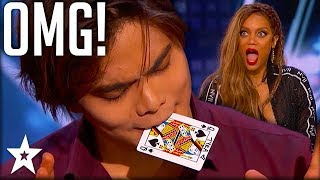 Card Magician Wows Tyra Banks on Stage!   America
