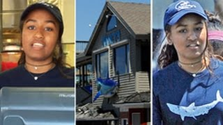 US First Daughter Sasha Obama serves seafood in summer job