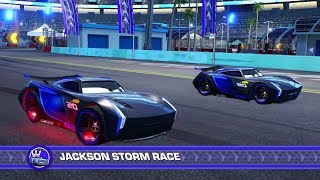 Cars 3: Driven to WIn (PS4) Gameplay - Jackson Storm vs. Jackson Storm (Who