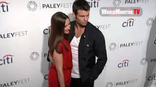 Daniel Gillies and Rachael Leigh Cook arrive at PaleyFest 2014