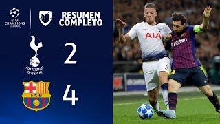 Tottenham 2-4 Barcelona - GOLES Y RESUMEN - Grupo B UEFA Champions League