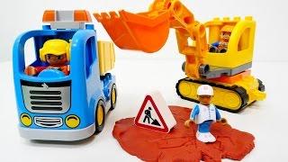 Kinderfilm - Wir packen Spielzeug aus - Die Baustellenfahrzeuge der Lego Duplo Serie