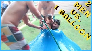 TWO MEN ENTER ONE WATER BALLOON!