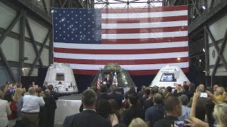 Vice President Pence Visits NASA, Hails New Era in Space