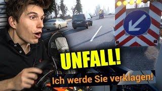 DIE POLIZEI SPERRT DIE KOMPLETTE AUTOBAHN ! ✪ FERNBUS SIMULATOR mit Lenkrad