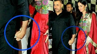 Salman Khan And Katrina Kaif Caught Holding Hand At Baba Siddiqui Iftar Party 2016 !!