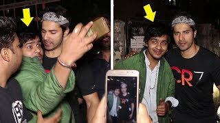 FAN Harasses Varun Dhawan For A Selfie.. What Varun Does Next Will Melt Your Heart