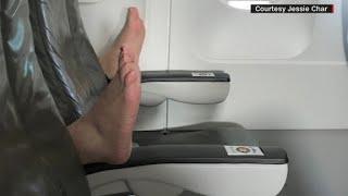 JetBlue passenger tweets in-flight feet surprise