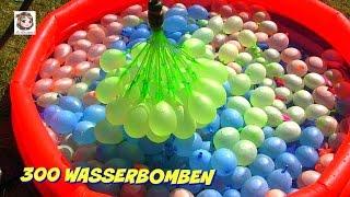 300 Wasserbomben 🎈 und eine Meerjungfrau 🎈 Bunch O Balloons Demo