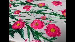 Acrylic Pour Painting: A Fine Field of Flowers