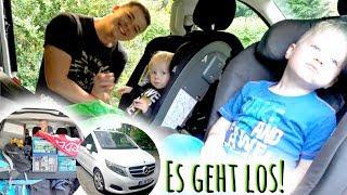 Wir fahren nach Frankreich! | Lange Autofahrt mit 2 Kindern über Nacht | Urlaubsvlog #1