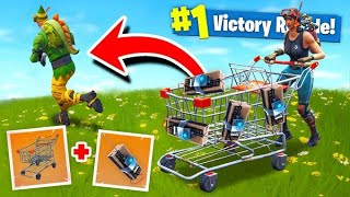 TROLLING With *EXPLOSIVE* SHOPPING CARTS In Fortnite Battle Royale