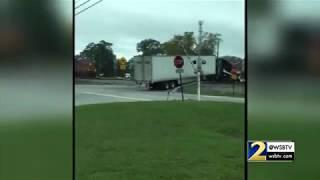 INSANE VIDEO: Train plows through straight through semi