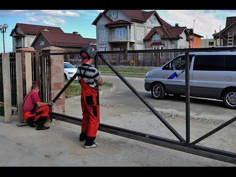 Откатные ворота очень дешево