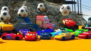 Cars 3 Colors LIGHTNING MCQUEEN Jackson Storm Fabulous MONSTER TRUCK Cruz Ramirez.