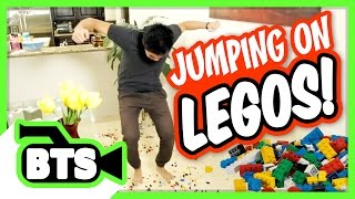Jumping on Legos! (BTS)