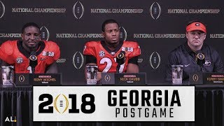 Kirby Smart, Nick Chubb, & Sony Michel address the media following Georgia
