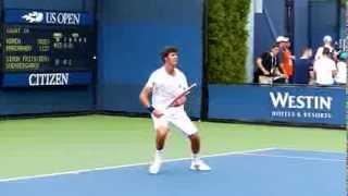 Karen Khachanov - US Open juniors 2013 - Slow motion video