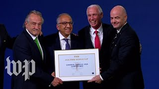 U.S., Mexico and Canada win joint bid for 2026 World Cup
