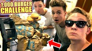 1.000 CHEESEBURGER CHALLENGE mit DieLochis - Mini McDonalds Roulette Prank