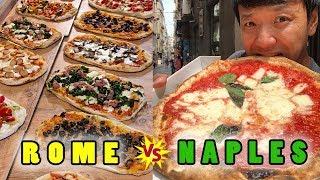 BEST PIZZA in ITALY! NAPLES Pizza vs. ROME Pizza!