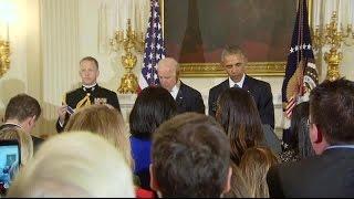 Obama surprises Biden with top civilian honor