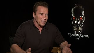 "WWE Network: Arnold Schwarzenegger describes watching him battle himself in ""Terminator Genisys"""