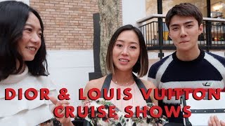 Dior & Louis Vuitton Cruise shows, Europe Vlog Part 1 - Vlog#60 | Aimee Song