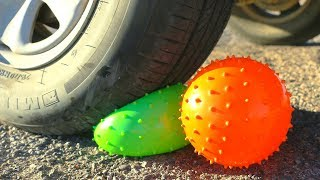 Trying Crushing Crunchy & Soft Things by Car! Floral Foam, Squishy and More! by HelloMaphie