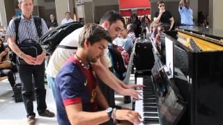 Improvisation at the train station in paris!