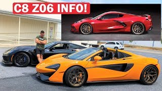 PEOPLE ARE WRONG ABOUT THE C8 CORVETTE... 745HP Z06 CONFIRMED!!! + ZR1 VS 570S REMATCH!