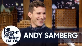 Andy Samberg Bonded with Sandra Oh and Tracked Down His Mom