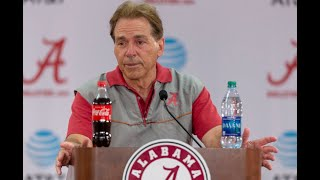 Nick Saban talks about the offensive line, injuries, more