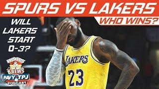 Who Wins San Antonio Spurs vs LA Lakers | Hoops N Brews