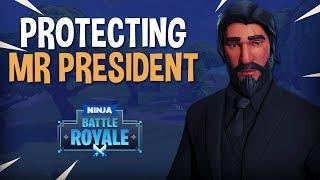 Protecting Mr. President - Fortnite Battle Royale Gameplay - Ninja