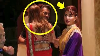Salman Khan HUGS Hot Woman & Ignores Jacqueline Fernandez At Sanjay Dutt
