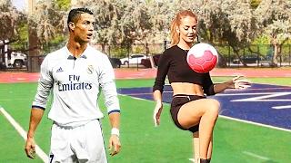 Sogar RONALDO sagt SIE ist besser als ER! - Fussball Challenges ⚽️
