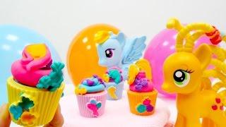 #Spielspaß mit Play-Doh - Die kleinen Ponys feiern eine Party - Wir machen Cupcakes