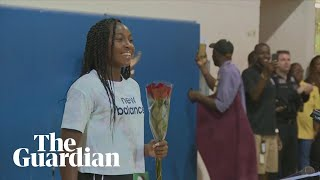 Coco Gauff given hero's welcome home after dream Wimbledon run