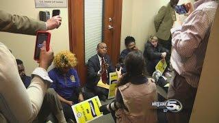 NAACP Stage Protest Outside U.S. Senator
