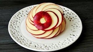 Art In Apple Flower   Fruit Carving Garnish   Apple Art   Party Garnishing