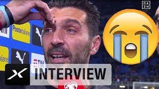 Grazie Gigi! Buffon verkündet unter Tränen seinen Rücktritt   Italien - Schweden   Interview   DAZN