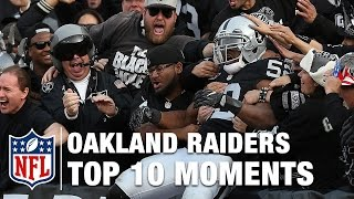 Top 10 Moments in Oakland Raiders History | NFL