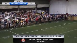 Vaqueras de Monterrey Vs Rebeldes de Cd, Juárez